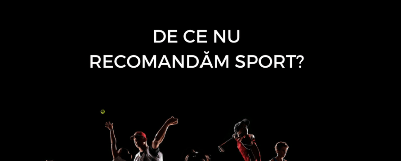 De ce nu recomandam sport?