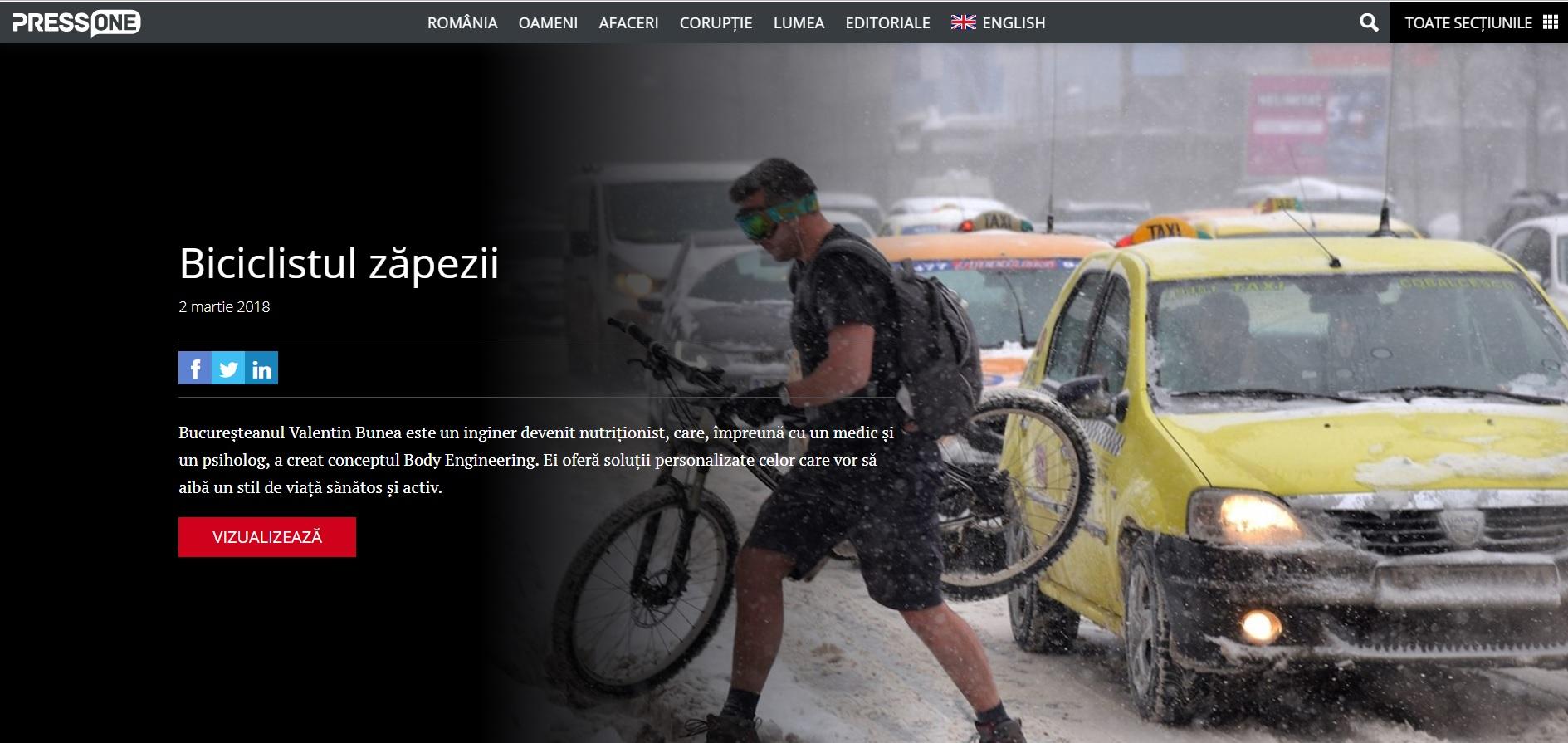 Articol Biciclistul Zapezii – PressOne